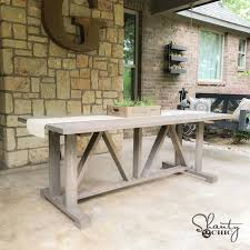 outdoor dining table plans diy 60 outdoor dining table shanty 2 chic