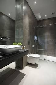 bathroom minimalist masculine bathroom with dark brown wood