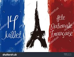 French Flag Eiffel Tower Poster French Flag Eiffel Tower Brushstrokes Stock Vector