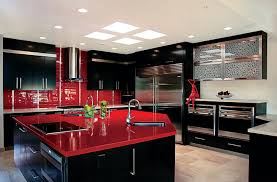 black and white kitchen decor with red accents designs from red