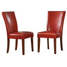 Target Parsons Chair Elizabeth Parson Side Chair Red Set Of 2 Inspire Q Target