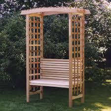 Garden Bench With Trellis 28 Trellis Bench Arboria Astoria 7 Ft Cedar Pergola Arbor