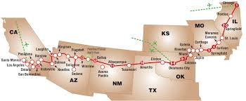 Illinois Road Construction Map by Entire Route 66 Map Start To Finish Route 66 Pinterest