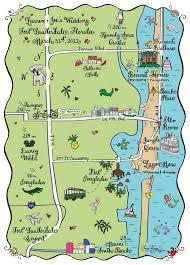 map of ft lauderdale maps fort lauderdale florida hooper calligraphy