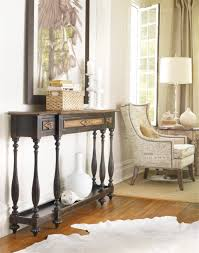 sanctuary 4 drawer console table hooker furniture living room sanctuary three drawer thin console