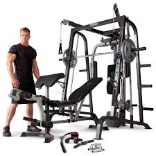 marcy md 9010g home gym smith machine with weight bench amazon co