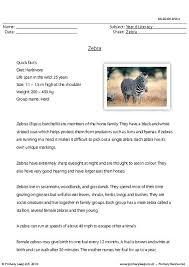 primaryleap co uk reading comprehension zebra worksheet