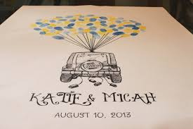 wedding quotes guestbook just married jeep thumbprint guest book trading phrases