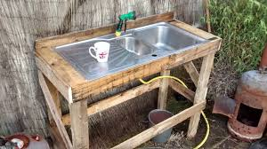 Outdoor Potting Bench With Sink Pallet To Potting Bench 6 Steps With Pictures