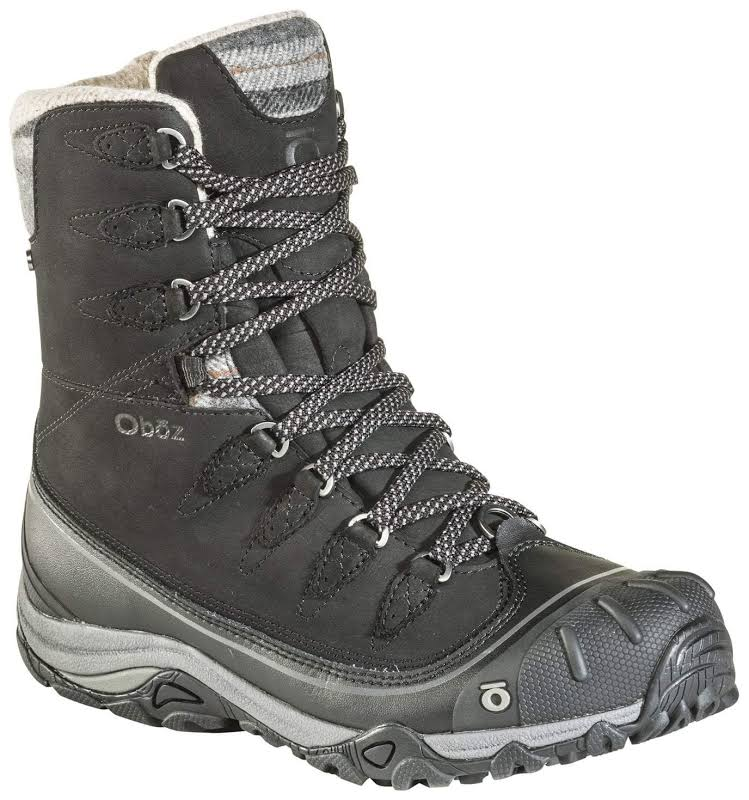 "Oboz Sapphire 8"" Insulated Waterproof Hiking Boot Black"