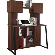 Ameriwood Computer Desk Ameriwood Home Hanson Desk With Hutch Cherry Walmart