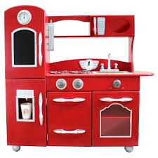 Pottery Barn Pro Chef Play Kitchen Teamson Kids Wooden Play Kitchen Set Red Td 11414r Products