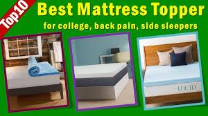 Best Gel Foam Mattress Topper Best Mattress Topper For College Back Pain Side Sleepers Best