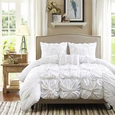 com madison park harlow 4 piece comforter set queen white home kitchen