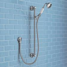 shower rail kit shower riser rail kits victorian plumbing trafalgar traditional shower slide rail kit chrome medium image
