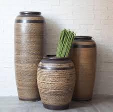 brown ceramic vase on the ground anti big vase ceramic vase