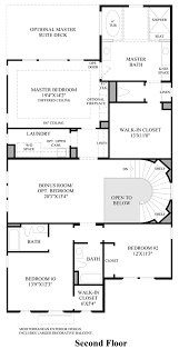 2nd Floor Plan Design Avila At Porter Ranch Glen Collection Quick Delivery Home