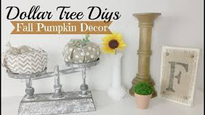 Dollar Tree Decorating Ideas Dollar Tree Fall Pumpkin Diy Fall Farmhouse Decor Ideas Youtube