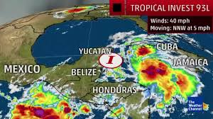 Mexico Weather Map by Video Tropical Trouble In The Gulf Of Mexico