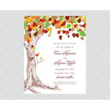 tree save the date cards style 603 whimsicalprints
