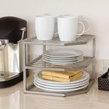 rebrilliant corner kitchen cabinet organizer rack u0026 reviews wayfair