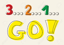 3 by Countdown 3 2 1 Go Hand Drawn Doodle Colorful Vector Illustration