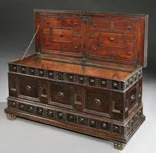 an early 17th century walnut cassone with