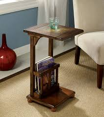 Vintage Living Room Side Tables Amazon Com Furniture Of America Ives End Table With Magazine Rack