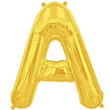 balloon letters letter a gold foil balloon shape b 34 the party bazaar