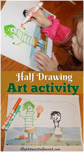 half drawing art activities u2013 the pinterested parent