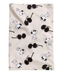Snoopy Shower Curtain by H U0026m Jersey Tube Scarf In Natural Lyst