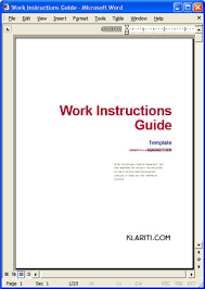 free manual template word sle operations manual template sop templates 14 37 best