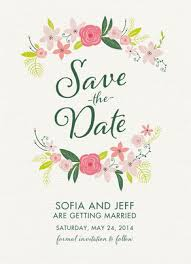 save the date card save the date card floral engagement and wedding save the date