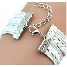 wrap bracelet with charms images White leather wrap bracelet love angle wings from category png