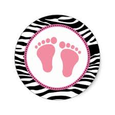 zebra baby shower pink zebra baby shower stickers zazzle