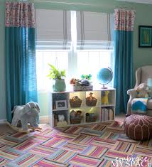 Blackout Curtains For Nursery by Splendid Decorating Ideas Using Cream Loose Curtains And