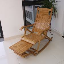 Bamboo Rocking Chair Long Bamboo Rocking Chair Recliner Happy Leisure Balcony Chairs