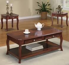 Wooden Coffee Table With Drawers Coffee Tables Incredible Coffee Tables And End Tables Designs