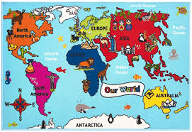 Children S Map Of The World by Buy Your Kids Rugs For Christmas Fludes Carpets