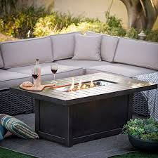 gas log fire pit table napoleon st tropez patioflame 56 inch propane gas fire table with