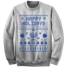 happy hanukkah sweater crew neck and shoulder sweatshirts gifted shirts