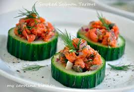 Dinner Party Hors D Oeuvre Ideas My Carolina Kitchen Smoked Salmon Tartare On Cucumber Rounds