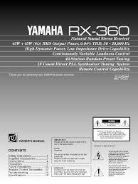 yamaha manuals yamaha rx 360 user manual