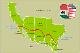 map us mexico border states us mexico border map mexico map orders building of wall