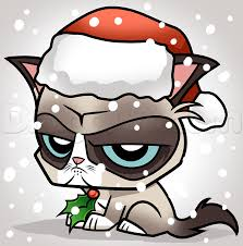 19 Awesome Grumpy Cat Christmas - how to draw christmas grumpy cat step by step christmas stuff