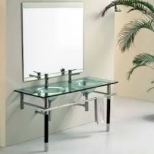 Glass Bathroom Sinks And Vanities Jjt Glass Sink Bathroom Vanity Vg 129 Functional