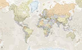 Wall Map Murals Classic World Map Wall Mural U0026 Classic World Map Wallpaper