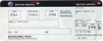 object collection blank british airways boarding pass u2013 jason dunn