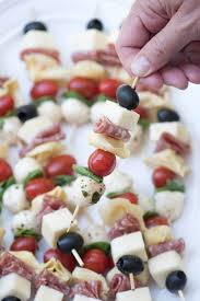 antipasto skewers an easy impressive party appetizer