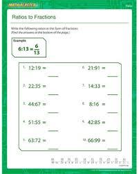 ratios to fractions u2013 free ratio worksheet online u2013 math blaster